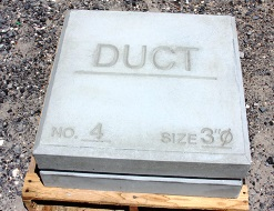 Duct marker supplier in Oman from ALCON CONCRETE PRODUCTS FACTORY LLC