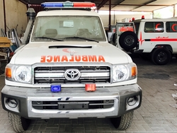 Ambulance Toyota  from DAZZLE UAE
