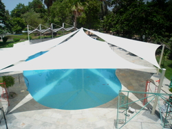 SWIMMING POOL SHADE SUPPLIERS IN UAE from AL AMEERA TENTS & SHADES