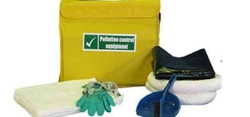 Chemical spill kit 5 Gallon Absorbent capacity, w/ BAG  from ARASCA MEDICAL EQUIPMENT TRADING LLC