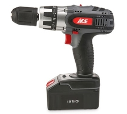 ACE Cordless Drill (18 V, x2 NiCad Battery) from AL FUTTAIM ACE