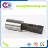 Parallel thread rebar splice coupler with factory  ...