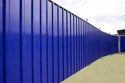 CORRUGATED Profiled Sheet Temporaty Hoarding Site Perimeter Fences Panels Continuous PVC Eco Panels Suppliers, Exporters, Contractors, Dealers in Dubai, UAE, Abu Dhabi, Muscat, Africa,
