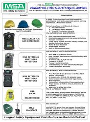 MSA Safety Products from Uruguay Group of Companies ,Oman Oman