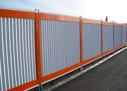 CORRUGATED Profiled SHEET HOARDING PERIMETER FENCE SUPPLIERS & Fencing Dealers, Fabricators, Contractors in Dubai, UAE, Abu Dhabi, GCC, Middle East, Africa