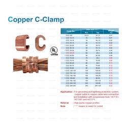 COPPER C CLAMPSUPPLIER IN UAE