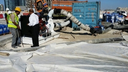 Rental of pumps for flushing (chemical cleaning)