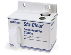 STA-CLEAR DISPOSABLE LENS CLEANING STATION