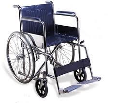 Half folding back S1 self propel wheel chair
