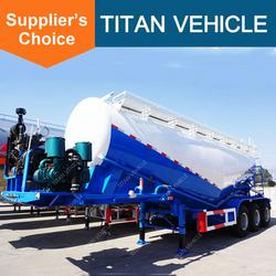 Titan 3 Axle 50CBM Bulk Cement Semi Trailer