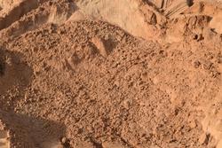 Filling sand in Dubai