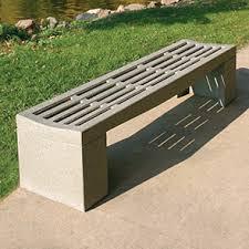 Perforated Precast Concrete Bench in UAE