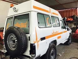 Extended Roof Toyota  Land Cruiser Ambulance
