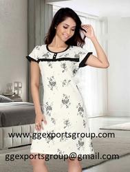 100%cotton short ladies sleepwear