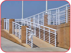 Railings Guard Rails Handrails, Crash Barriers, Guardrails, Bollards, Palisade Fence Suppliers, Fabricators, Dealers, Company, Contractors in UAE, Dubai, Abu Dhabi, Africa, Qatar, Iran, Oman from CHAMPIONS ENERGY, FENCE FENCING SUPPLIERS UAE, WWW.CHAMPIONS123.COM