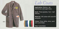 Industrial Lab Coats from INFINITY TRADING LLC..