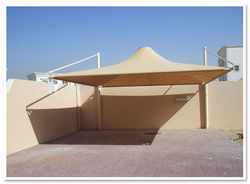 Cantilever Type Car Parking Sunshade from AL RAWAYS TENTS & CAR PARKING SUNSHADES