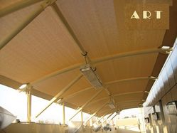 Car Parking Sunshade with Steel Structure from AL RAWAYS TENTS & CAR PARKING SUNSHADES