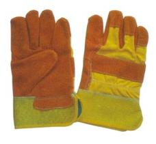 LEATHER GLOVES YELLOW COLOR