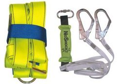 SAFETY HARNESS DOUBLE LANYARDS WITH SHOCK ABSORBER from SAFELAND TRADING L.L.C