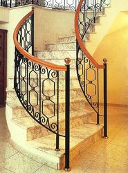 Wrought Iron Stair Case