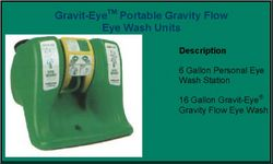 EYE WASH STATION PORTABLE GRAVITY FLOW