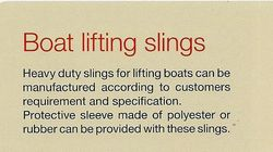 BOAT LIFTING SLINGS ALLSAFE BRAND from SAFELAND TRADING L.L.C