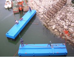 FLOATING PONTOONS FOR DREDGING PUMP