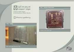 stainless steel directory SIGNS uae from SUPER SIGN SS ADVERTISING CO LLC