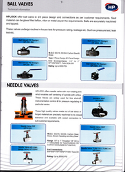 Needle Valves /Ball Valves from HP VALVES & FITTINGS FZE
