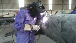 Fabrication of Gas Pipe Lines from AL RAWAYS TENTS & CAR PARKING SUNSHADES
