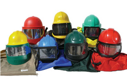 Blasting helmets from POWERBLAST LLC