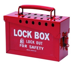 BRADY Portable Metal Lock Box - Red from SIS TECH GENERAL TRADING LLC