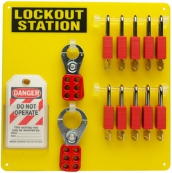 BRADY 10-Lock Board (Filled with Brady Safety Padl from SIS TECH GENERAL TRADING LLC