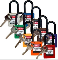 BRADY Nylon Shackle Keyed Different Safety Locks from SIS TECH GENERAL TRADING LLC