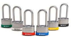 BRADY Key Retaining Keyed Alike Shackle Steel Lock from SIS TECH GENERAL TRADING LLC