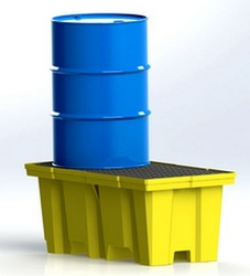 2-Drum Nestable ECO Poly-Spillpallet from SIS TECH GENERAL TRADING LLC