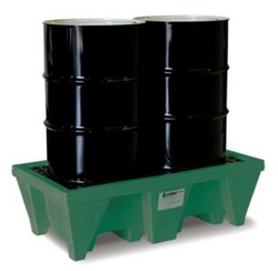 2-Drum ECO Poly-Spillpallet w/Drain from SIS TECH GENERAL TRADING LLC
