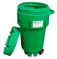 50-Gallon Wheeled ECO Poly-Spillpack from SIS TECH GENERAL TRADING LLC