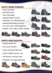 SAFETY SHOE WORKER 042222641 STEEL TOE SAFETY SHOES  from ABILITY TRADING LLC