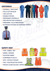 COVERALL UNIFORMS for worker 042222641 from ABILITY TRADING LLC
