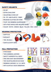SAFETY HELMET, EAR MUFF,042222641SAFETY HARNESS