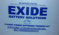 De-Ionized Waater from CLASSIC POWER BATTERIES TRADING LLC