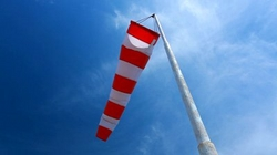 RED AND WHITE WIND SOCK