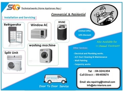 Aircondtioning Maintenance and Services from SKC INTERIORS