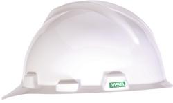MSA V-GARD® Hard Hat (White) from URUGUAY GROUP OF COMPANIES