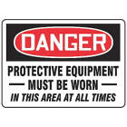 ACCUFORM SIGNS Protective Equipment Must Be Worn  from WORLD WIDE DISTRIBUTION FZE