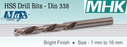 HSS Drill Bits DIN 338 Bright Finish from M H K HARDWARE TRADING LLC