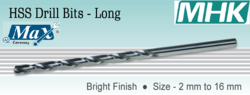 HSS Drill Bits Long DIN 1869-II Bright Finish from M H K HARDWARE TRADING LLC