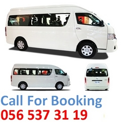 14 Seat Hiace, minibus for rent in Ajman, Sharjah  from WADI SWAT BUSES TRANSPORT
